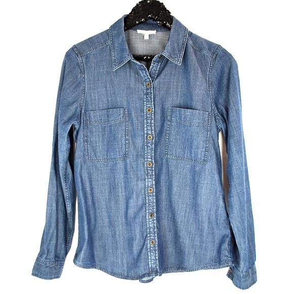 9c78648370a67c Eileen Fisher Tops - Eileen Fisher Denim Chambray shirt top womens S